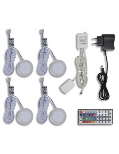 4 Apvalūs Lipdomi LED Šviestuvai Spintelėms | LED Lemputės | duodu.lt
