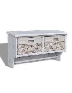 Suoliukas-daiktadėžė, masyvi mediena ir plienas, 111x34x37cm | Sandėlio ir Prieangio Suolai | duodu.lt