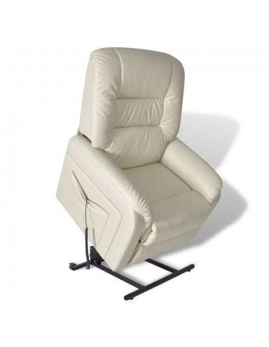 TV krėslas reglaineris, elektr., reguliuojamas, dibt. oda, smėlio sp. | Foteliai, reglaineriai ir išlankstomi krėslai | duodu.lt