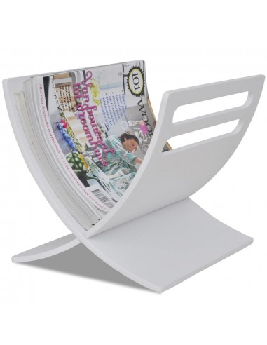 Medinis žurnalų laikiklis, pastatomas, baltos sp.  | Žurnalų laikikliai | duodu.lt
