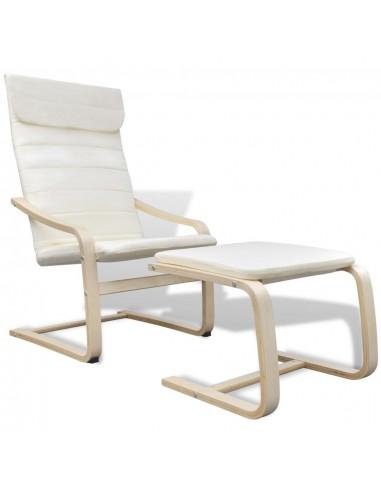 Krėslas, lenktos medienos rėmas, audinys, kreminės spalvos  | Foteliai, reglaineriai ir išlankstomi krėslai | duodu.lt
