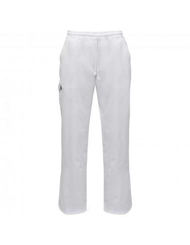 Šefo kelnės, 2vnt., tampri liemens juosta su virve, M, baltos | Kelnės virėjams | duodu.lt