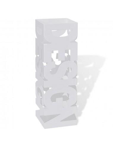 Baltas Kvadratinis Skėčių, Vaikšč. Lazdų Stovas, Plienas, 48,5 cm   Lietsargių stovai ir pakabos   duodu.lt