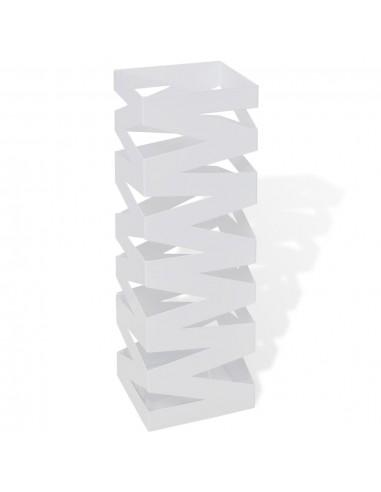 Baltas Kvadratinis Skėčių, Vaikščiojimo Lazdų Stovas, Plienas, 48,5 cm   Lietsargių stovai ir pakabos   duodu.lt