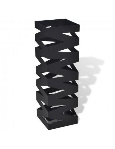 Juodas Kvadratinis Skėčių, Vaikščiojimo Lazdų Stovas, Plienas, 48,5 cm | Lietsargių stovai ir pakabos | duodu.lt
