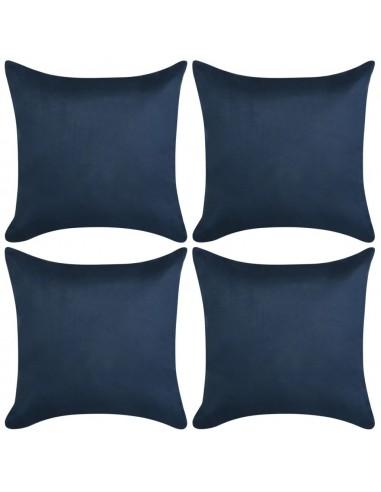 Pagalvėlių užvalkalai, 4vnt, 40x40, poliesterio zomša, mėlyna   Dekoratyvinės pagalvėlės   duodu.lt