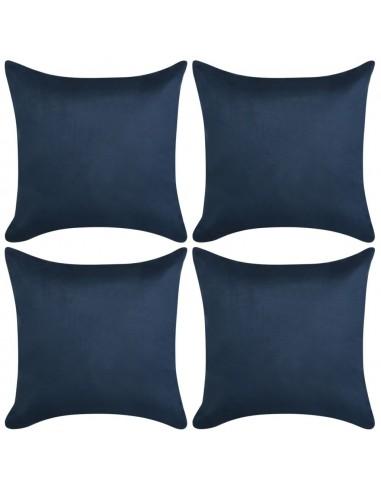 Pagalvėlių užvalkalai, 4vnt, 80x80, poliesterio zomša, mėlyna | Dekoratyvinės pagalvėlės | duodu.lt