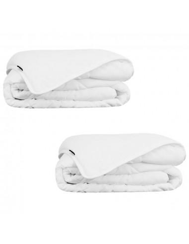 Vasarinės antklodės, 2 vnt., 135x200 cm, baltos    Dygsniuotos ir pūkinės antklodės   duodu.lt