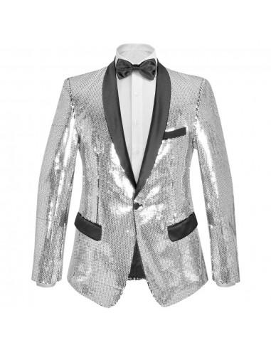 Vyriškas švarkas su blizgučiais Tuxedo, sidabrinis, dydis 54 | Smokingai | duodu.lt