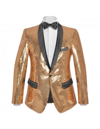Vyriškas švarkas su blizgučiais Tuxedo, aukso spalva, dydis 48   Smokingai   duodu.lt