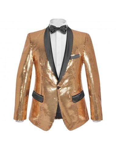 Vyriškas švarkas su blizgučiais Tuxedo, aukso spalva, dydis 50   Smokingai   duodu.lt