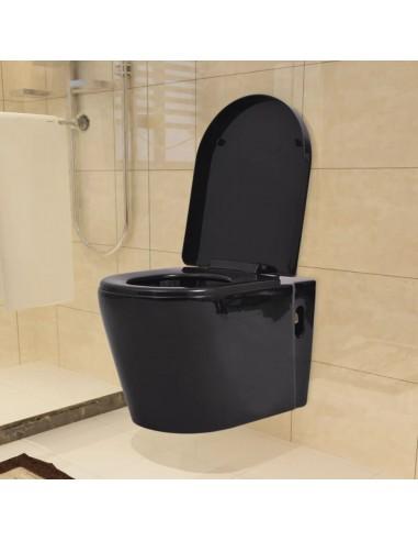Pakabinamas keramikinis klozetas, juodas | Klozetai | duodu.lt