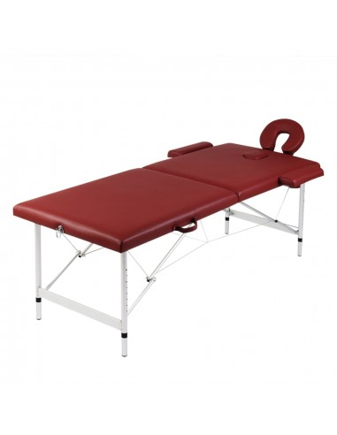 Sulankstomas Masažo Stalas su Aliuminio Rėmu, 2 zonų, Raudonas | Masažiniai Stalai | duodu.lt