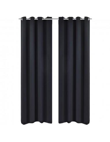 Naktinės užuolaidos su metal. kilp., 2vnt., 135x175cm, juodos | Dieninės ir Naktinės Užuolaidos | duodu.lt