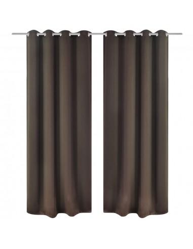 Naktinės užuolaidos su metal. kilp., 2vnt., 135x175cm, rudos | Dieninės ir Naktinės Užuolaidos | duodu.lt