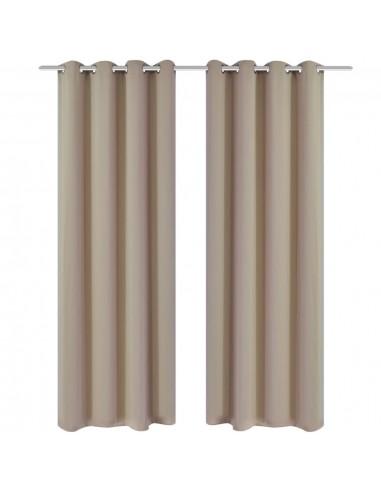 Naktinės užuolaidos su metal. kilp., 2vnt., 135x175cm, kreminės   Dieninės ir Naktinės Užuolaidos   duodu.lt