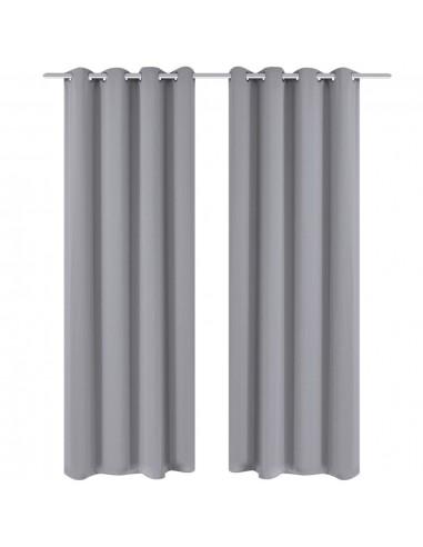 Naktinės užuolaidos su metal. kilp., 2vnt., 135x175cm, pilkos   Dieninės ir Naktinės Užuolaidos   duodu.lt