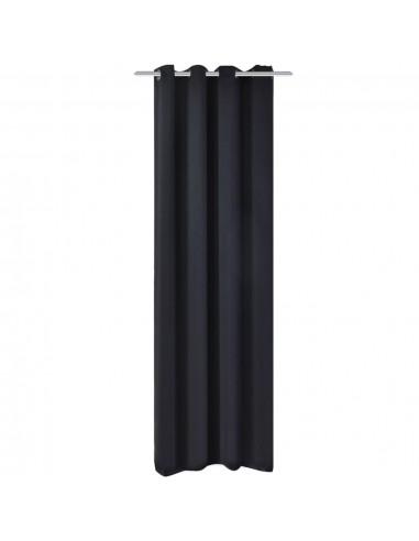 Naktinės užuolaidos su metalinėmis kilp., 270x245cm, juodos | Dieninės ir Naktinės Užuolaidos | duodu.lt