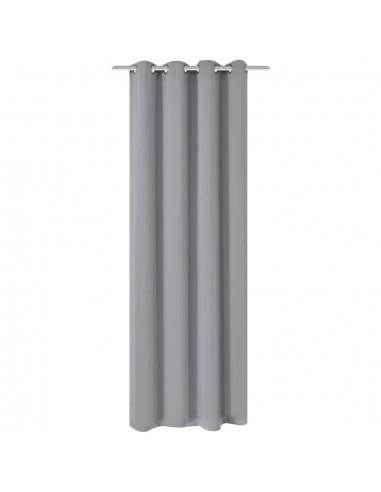 Naktinės užuolaidos su metalinėmis kilp., 270x245cm, pilkos | Dieninės ir Naktinės Užuolaidos | duodu.lt
