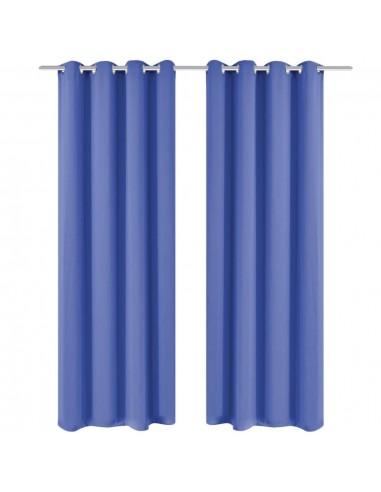 Naktinės užuolaidos su metal. kilp., 2vnt., 135x175cm, mėlynos | Dieninės ir Naktinės Užuolaidos | duodu.lt