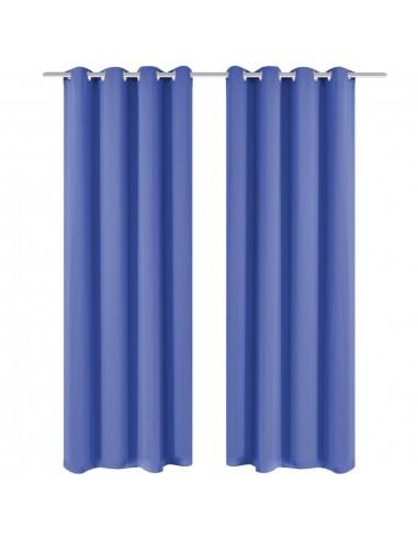 Naktinės užuolaidos su metal. kilp., 2vnt., 135x245cm, mėlynos | Dieninės ir Naktinės Užuolaidos | duodu.lt
