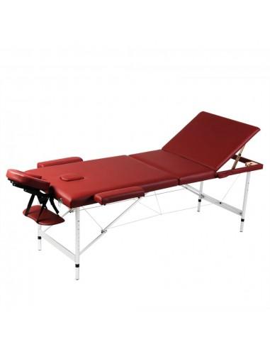 Sulankstomas Masažo Stalas, Rėmas iš Aliuminio, 3 zonų, Raudonas   Masažiniai Stalai   duodu.lt