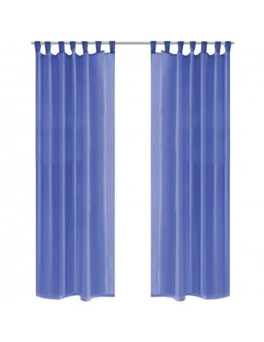 Užuolaidos, muslinas, 2 vnt., 140x175 cm, ryškiai mėlyna  | Dieninės ir Naktinės Užuolaidos | duodu.lt