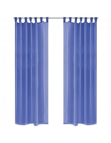 Užuolaidos, muslinas, 2vnt., 140x225 cm, ryškiai mėlyna | Dieninės ir Naktinės Užuolaidos | duodu.lt