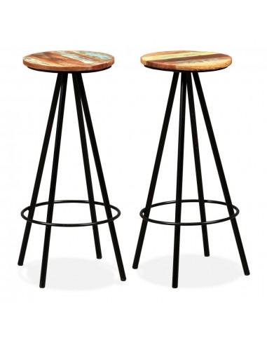 Baro kėdės, 2 vnt., perdirbta mediena ir plienas   Stalai ir Baro Kėdės   duodu.lt