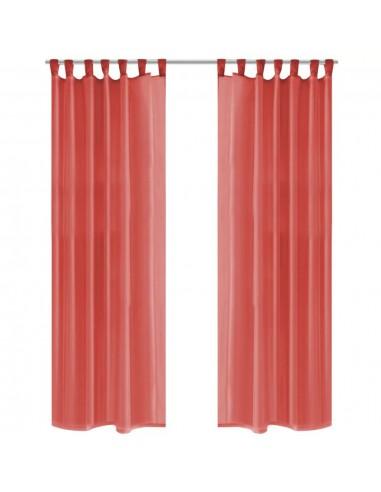 Užuolaidos, muslinas, 2vnt., 140x225 cm, raudona | Dieninės ir Naktinės Užuolaidos | duodu.lt