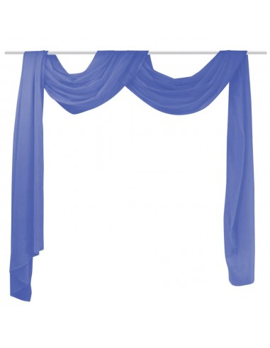Muslino drapiruotė, 140x600 cm, ryškiai mėlyna | Dieninės ir Naktinės Užuolaidos | duodu.lt