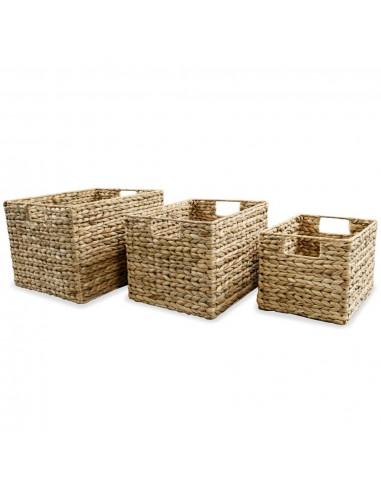 Daiktų laikymo krepšiai, 3vnt., vandens hiacintas | Daiktadėžės namams | duodu.lt