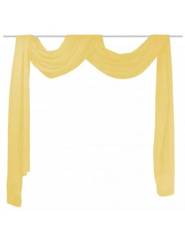 Muslino drapiruotė, 140x600 cm, geltona   Dieninės ir Naktinės Užuolaidos   duodu.lt