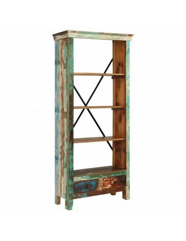 Knygų lentyna, perdirbtos medienos masyvas, 80x35x180cm | Knygų Spintos ir Pastatomos Lentynos | duodu.lt