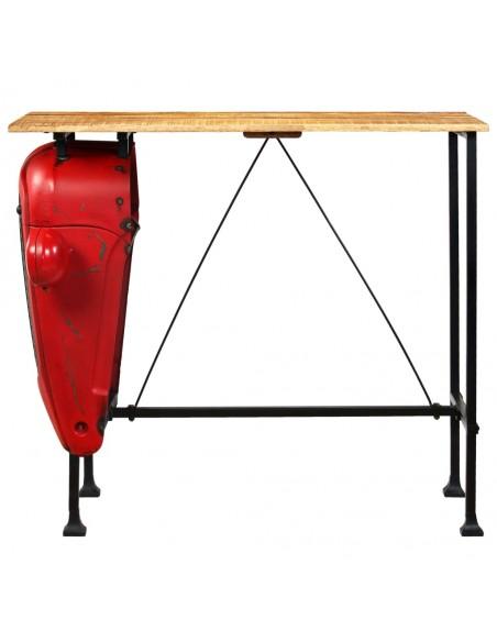 3 d. Saulės gultų komplektas su stalu, poliratanas, rudas  | Šezlongai | duodu.lt