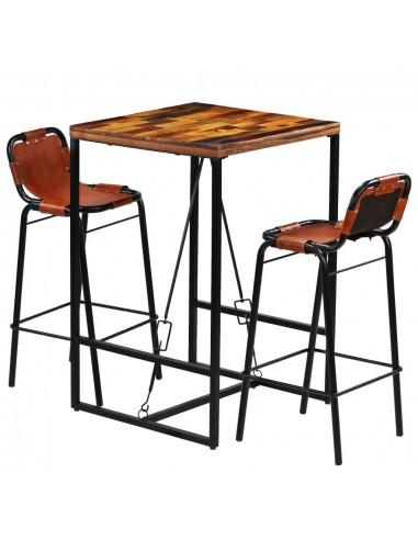 Baro baldų komplektas, 3d., perdirbt. med. ir tikra ožkos oda   Virtuvės ir Valgomojo Baldų Komplektai   duodu.lt