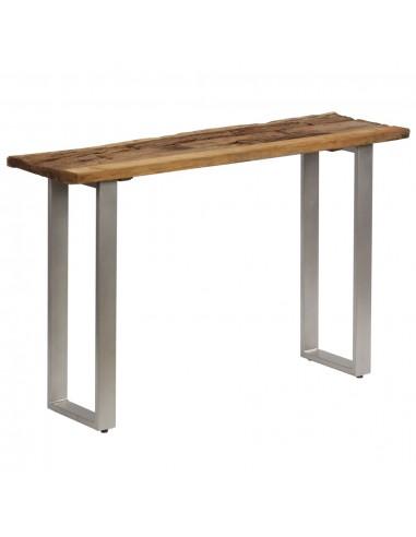 Konsolinis staliukas, pabėgių med. ir plienas, 120x35x76cm   Žurnaliniai Staliukai   duodu.lt