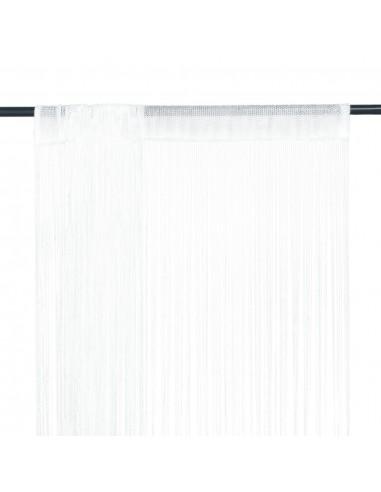 Virvelinės užuolaidos, 2vnt., 100x250cm, baltos spalvos | Dieninės ir Naktinės Užuolaidos | duodu.lt