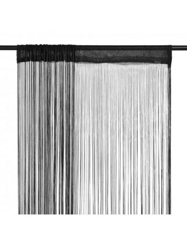 Virvelinės užuolaidos, 2vnt., 100x250cm, juodos spalvos | Dieninės ir Naktinės Užuolaidos | duodu.lt