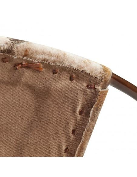 Kušetė, sintetinis ratanas, 201x139x58 cm, ruda  | Lauko lovos | duodu.lt