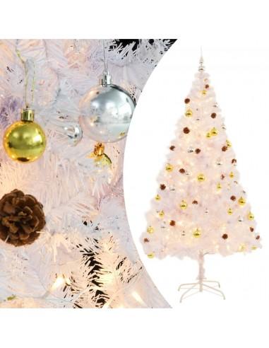 Dirbtinė Kalėdų eglutė papuošta žaisliuk. ir LED, 210cm, balta   Šventiniai papuošimai   duodu.lt