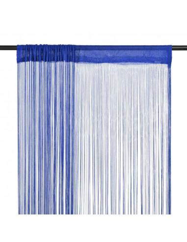 Virvelinės užuolaidos, 2vnt., 140x250cm, mėlynos spalvos | Dieninės ir Naktinės Užuolaidos | duodu.lt