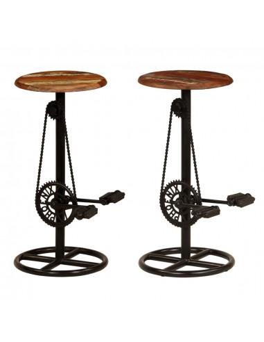 Baro kėdės, 2vnt., perdirbtos medienos masyvas, 38x76cm | Stalai ir Baro Kėdės | duodu.lt