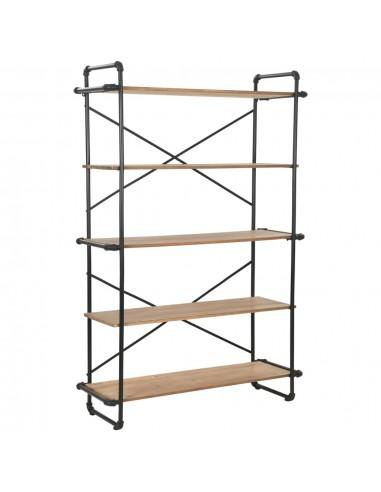 Knygų lentyna, eglės mediena ir plienas, 120x42x180cm  | Knygų Spintos ir Pastatomos Lentynos | duodu.lt