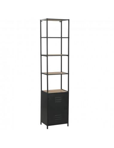 Knygų lentyna, eglės mediena ir plienas, 40,5x32,5x180cm    Knygų Spintos ir Pastatomos Lentynos   duodu.lt