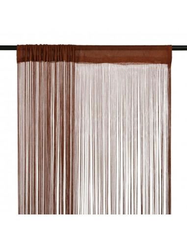 Virvelinės užuolaidos, 2vnt., 100x250cm, rudos spalvos | Dieninės ir Naktinės Užuolaidos | duodu.lt