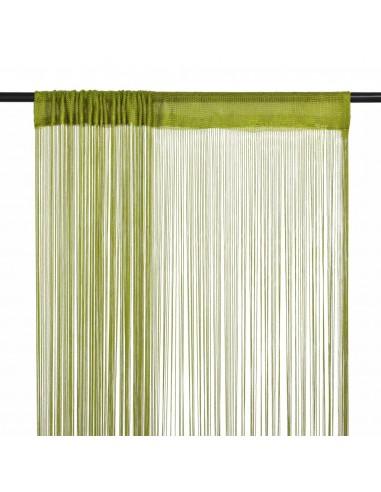 Virvelinės užuolaidos, 2vnt., 100x250cm, žalios spalvos | Dieninės ir Naktinės Užuolaidos | duodu.lt