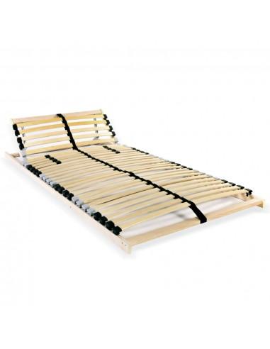 Grotelės lovai su 28 lentjuostėmis, 7 zonos, 70x200cm   Lovos ir Lovų Rėmai   duodu.lt