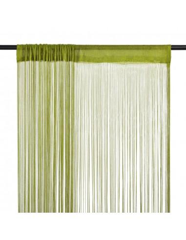 Virvelinės užuolaidos, 2vnt., 140x250cm, žalios spalvos   Dieninės ir Naktinės Užuolaidos   duodu.lt