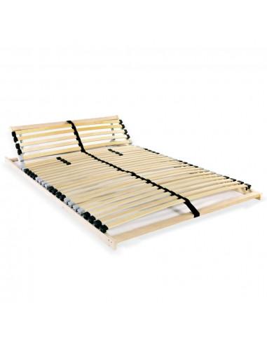 Grotelės lovai su 28 lentjuostėmis, 7 zonos, 120x200cm | Lovos ir Lovų Rėmai | duodu.lt